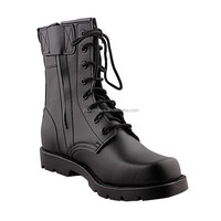 tall canister full leather black armied explosion-proof high tactics military half boots