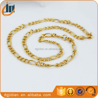 2015 New design products gold plated stainless steel necklace chain wholesale
