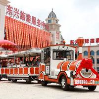 diesel powerd Tourist Trackless Electric Train for Amusement Park