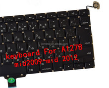 Original laptop keyboard for macbook pro A1278 mid2009-mid 2012 JP
