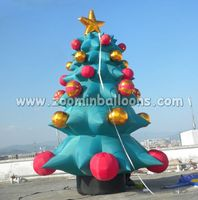 holiday balloons inflatable Christmas tree balloons with good price N2030(1)