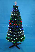 Prelit Multi Color Changing Fiber Optic Christmas Tree With Movement Base