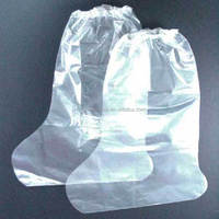 2015 hot sale Disposable Polyethylene Clear Shoe Cover/Boot Cover
