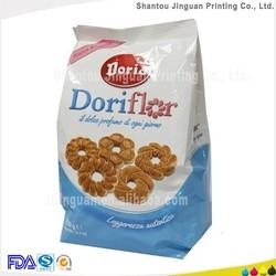 Food grade side gussets laminated packaging biscuit plastic bag