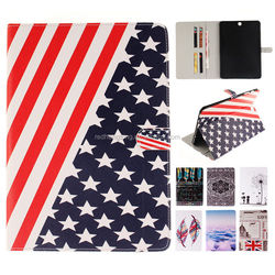 Printing Magnetic Standing Folio Tablet PU Leather Case for Samsung Tab S2 T815