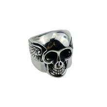 Skull ring male skull ring cheap wholesale men stainless steel ring
