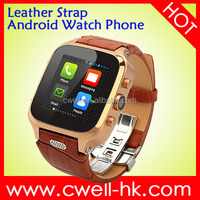 Smart W9 1.54 inch IPS touch screen Dual Core Single Micro SIM Card Waterproof Android Watch Phone with 1GB RAM 8GB ROM