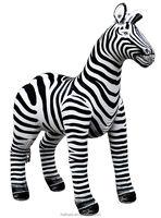 Giant inflatable zebra animal model for event