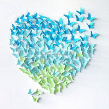 Christmas decoration paper butterfly in decoration bow supplies