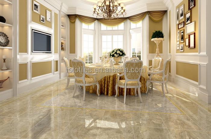 Glazed Cloud Porcelain Tiles Look Like Marble Livingroom