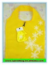 Yellow xmas gift snow print christmas gift for promotion with small bag