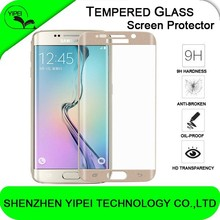 Hot Colorful 3D Curved Front Cover Full Coverage Tempered Glass Screen Protector Film Skin For Samsung Galaxy S6 Edge G9250