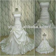 JJ2679 Beautiful White Taffeta Long Train Ball Gown bridal gown 2012