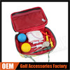 Factory Custom Golf Valuable Pouch With Double Silver Zipper, OEM Grid Golf Accessories Pouch