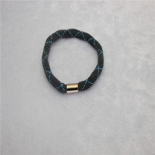 Wholesale cheap fashion high quality Hair Accessories men elastic hair ties with charm