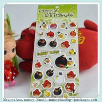 Cartoon birds christmas decoration window foam puffy sticker