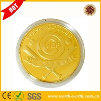 Latest Design Chicago Cubs 24K Gold Plated Coin, Bear Cubs Commemative Coin For Baseball Fans' Collection