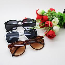 Min order $15 (mix order) Free Shipping Ladies Girl Summer Fashion Popular Plastic Frame Round Glasses Sunglasses 1if1