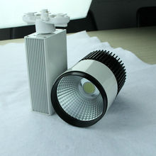 Rise dimmable cob led track light, 3phase/3pins gallery spotlight ,SAA, CE ,ROHS approval