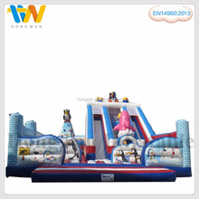 promotion product inflatable fun city amusement park equipment water slide pool set for adult