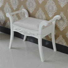 New design antique wood white single chair made in China