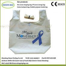 nylon shopping foldable roll up tote bag