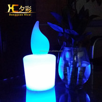 LED Candle Table Lamp Color Changing Night Lights For Bar Club Dining Room Bedroom Wedding Ceremony Party