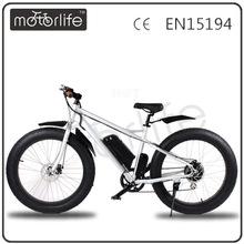 MOTORLIFE/OEM brand HOT SALE 36v 500w fat tire off road electric bike