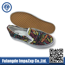 Fashion design no lace vulcanized casual canvas shoes for young people
