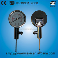 (YT-40) 40mm standard ball pressure gauge with dual scale 1 bar and 15psi