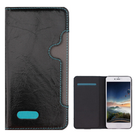 OEM & ODM wallet leather case for huawei ascend p6