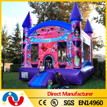 Top fun and China professional manufacturers bouncy castle paint inflatable princess bouncy castle