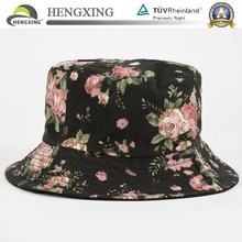 High quality custom print floral bob hat with woven label