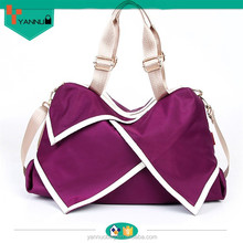 hot selling wholesale vintage waxed leisure girl cute large nylon handbag cheap