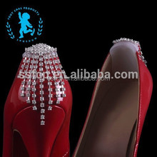 Italy Fashion strass crystal Heart-shape shoe clip accessory for lady shoes