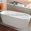 BN-127 Free standing oval bathtub,center drainer acrylic material