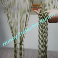 Attractive 4.5mm bronzen color metal bead string curtain