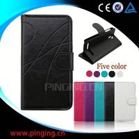 factory price flip leather case for samsung galaxy s duos s7562