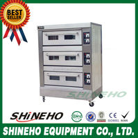 B013 3 Layer 6 Trays Commercial Bakery Gas Bread Baking Oven