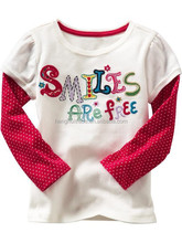 Wholesale fashion cute kids T-shirt