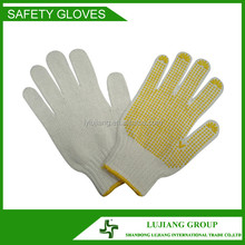 High quality PVC dotted cotton safety working gloves
