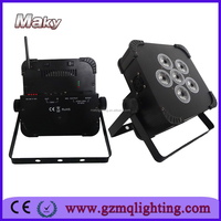 mini flat led battery light wirelss led par cans remote control for wedding stage lighting guangzhou wholesale