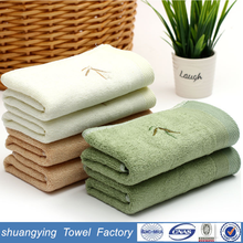 China factory wholesale 34*75 cm 110g cotton embroider branded towel
