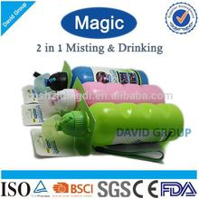 Creative Magic 2 in 1 Misting&Drinking FDA BPA Free Water Filter Sports Bottle