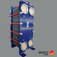 Detachable plate heat exchangers gasketed BVP600 german technology steam water heat exchanger