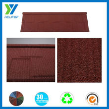 Strengthen shingle stone coated metal roof tile 1320*420*0.4mm (al-zn steel)