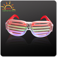 New style decoration party supplier Led factory price Sound Activated eyewear, funny shutter led eyewear
