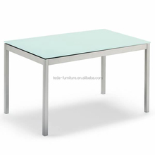120*70 glass dining table