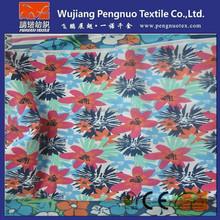 patterned chiffon fabric with flower printed chiffon fabric for dress