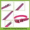 TPU reflective hunting dog collar hot pink